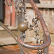 Old handrail detail — Stockfoto #4949142