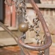 Old handrail detail — Stock Photo