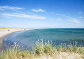 View towerds sandy peninsula of Skagen (The Skaw), Nordjylland, Jutland Den — Fotografia Stock