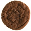 Double chocolate chip cookie isolated on white background; — Stock Photo