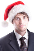 Business Man with Santa Hat — Stock Photo