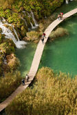 One of the travertine features at the UNESCO listed Plitvice lak — Stock Photo