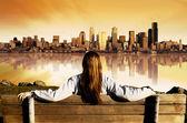 City View Sunrise — Stock Photo