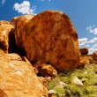 Stock Photo: Devils Marbles Panorama