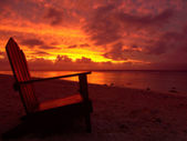 Sunset Chair — Stock Photo