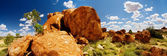 Devils Marbles Panorama — Stock Photo