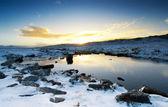 Peaceful Winter Brook — Stock Photo