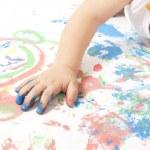 Baby Painting — Stock Photo