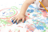 Baby Painting — Stock Photo