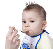Feeding Time For Baby — Stock Photo