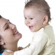 Happy mother with baby boy — Stock Photo