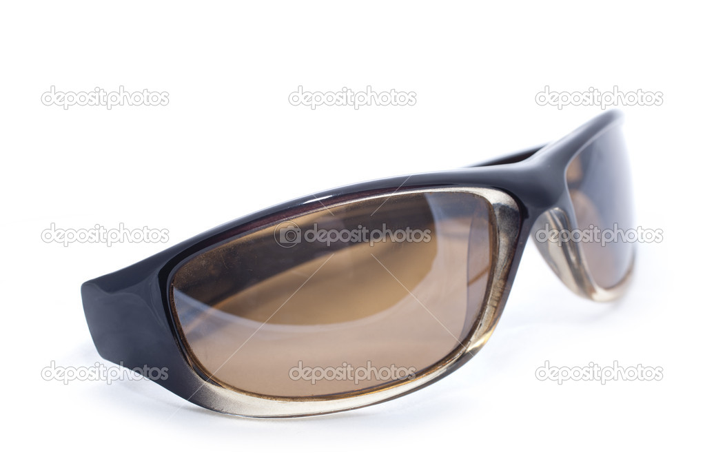 Beautiful and modern sunglasses on a white background — Stock Photo #4663681