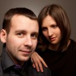 Closeup portrait of a young beautiful couple — Stock Photo #5090448