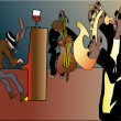 Jazz trio — Vector de stock #4437696