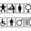 Set of toilet icons - Stock Vector