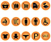 Shoping mall icons — Stock Vector