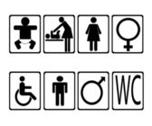 Set of toilet icons — Vector de stock