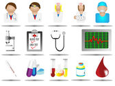 Hospital icon set,vector illustration of medical care icons,health care — Stock Vector