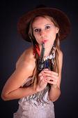 The American Indian girl — Fotografia Stock
