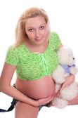 Söta gravida flicka — Stockfoto