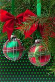 Christmas balls on white background — Stock Photo