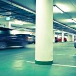 Underground parking/garage (color toned image) — Stock Photo #4695926