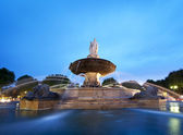 Nightshot of La Rotonde fountain - The central roundabout in Aix — Stock Photo