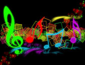 COLOURFUL SHONE MUSICAL NOTES — Stock Photo