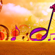 MUSICAL BACKGROUND — Stock Photo #4530992