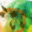 WATER COLOR BACKGROUND WITH  FLOWER — Stock Photo #4531051