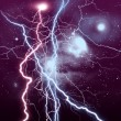BACKGROUND WITH LIGHTNING - Stock Photo