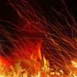 Stock Photo: FIERY BACKGROUND