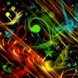 COLORFUL MUSICAL BACKGROUND — Stock Photo #4534503