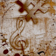 Stock Photo: MUSICAL GRUNGE BACKGROUND