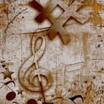 MUSICAL GRUNGE BACKGROUND — Stock Photo #4537656