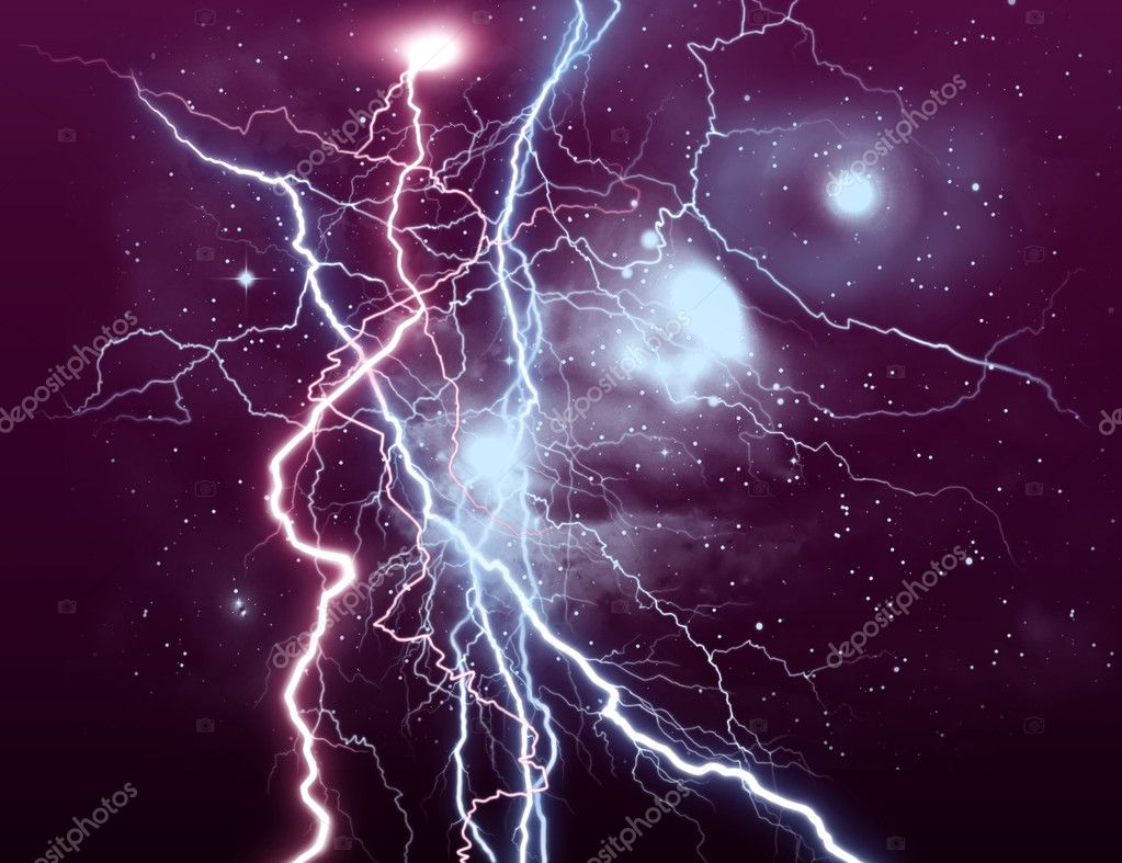 BACKGROUND WITH LIGHTNING — Stock Photo #4532487