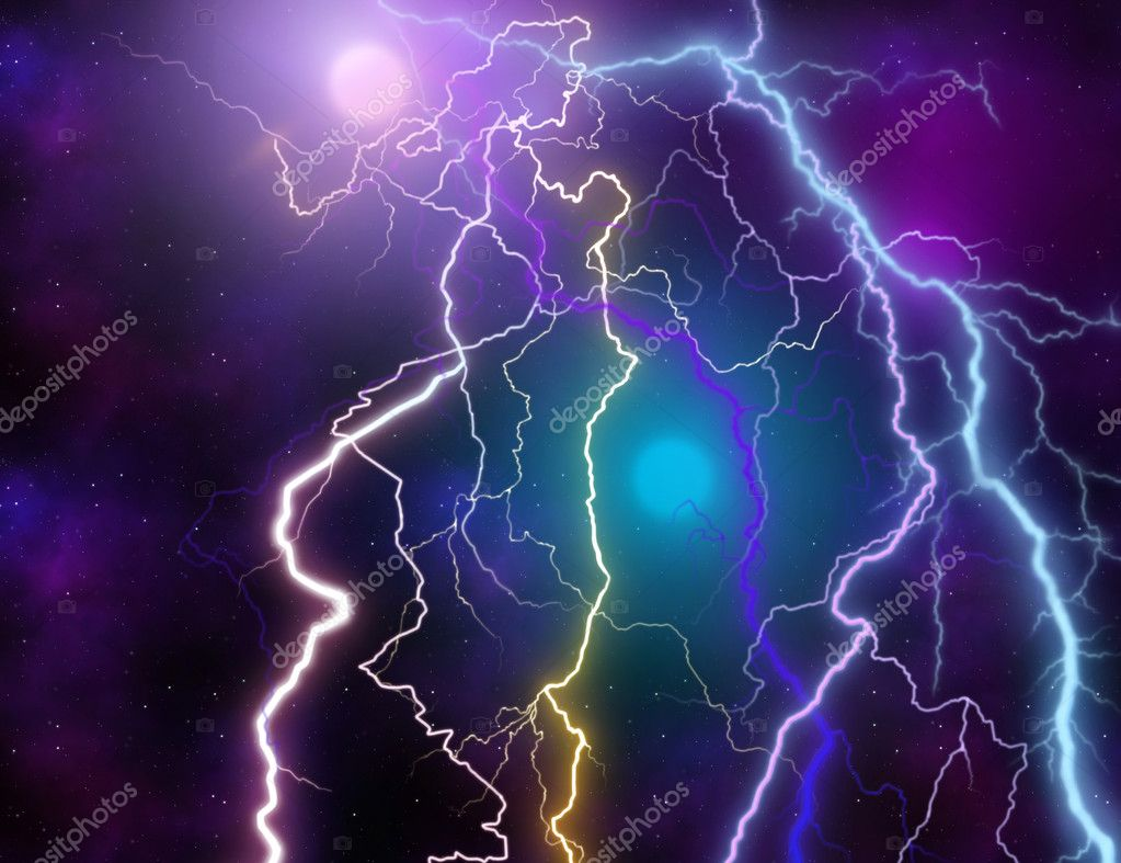 BACKGROUND WITH  LIGHTNING  Stock Photo #4532518