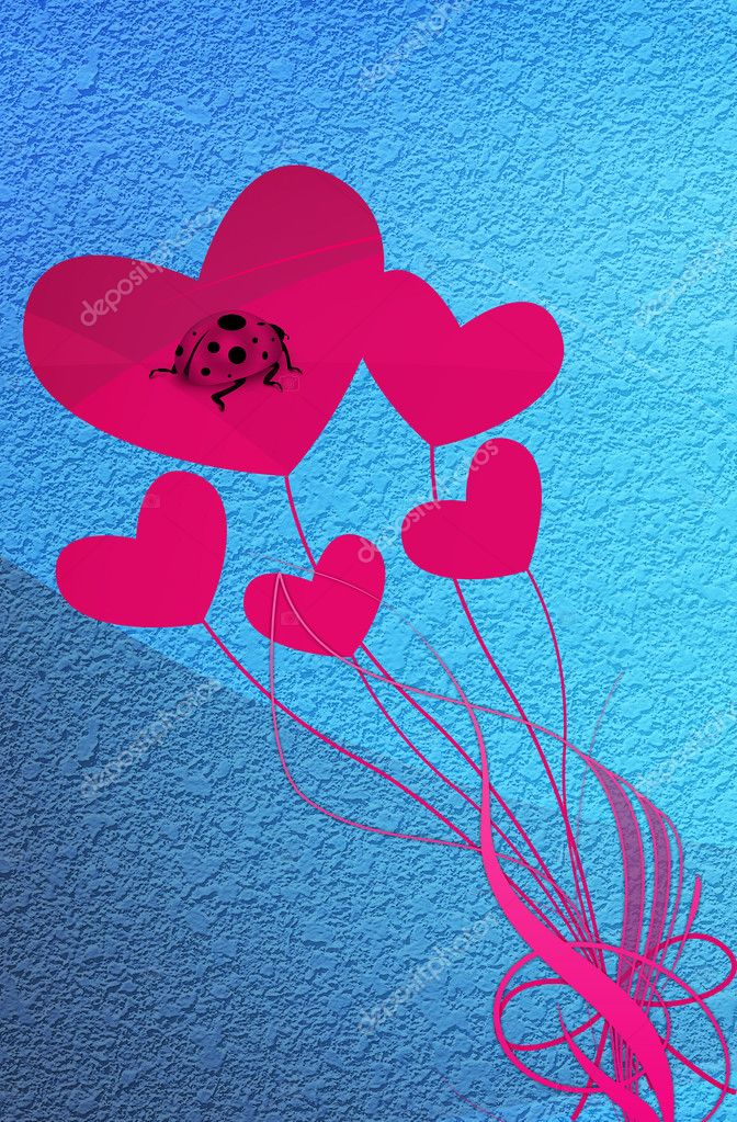 CARD BY VALENTINE'S DAY — Foto de Stock   #4535094