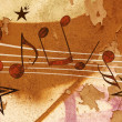 MUSICAL GRUNGE  BACKGROUND - Stock Photo