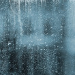 RAIN DROPS ON THE WINDOWPANE — Stock Photo