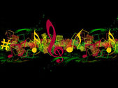 COLORFUL MUSICAL BACKGROUND — Stockfoto