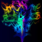 COLORFUL SMOKE — Stockfoto