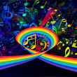 colorful background music — Stock Photo