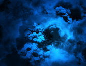 DARK BLUE GRUNGE CLOUDS — Stock Photo