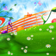 Royalty-Free Stock Photo: SUMMER MUSICAL BACKGROUND