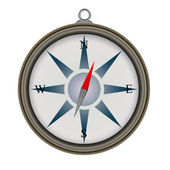 Compass on white background — Stock Photo