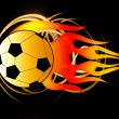 FIERY FOOTBALL - Stock Photo