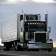 Big truck driving on a highway — Stock Photo
