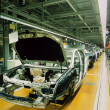 Stock Photo: Car production line