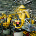 Car production line — Stock Photo